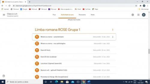 Limba si literatura Romana - Printscreen Classroom